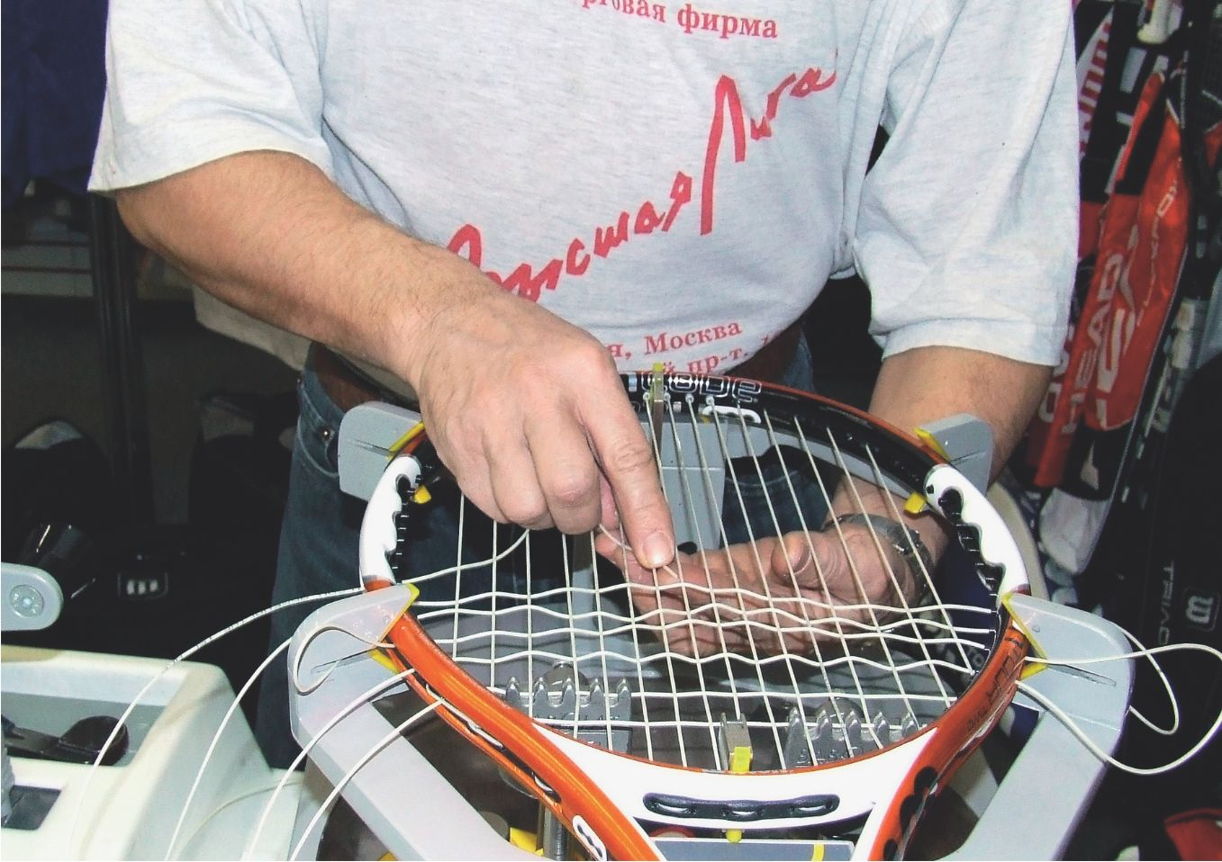 Натяжка струн теннис инструкция