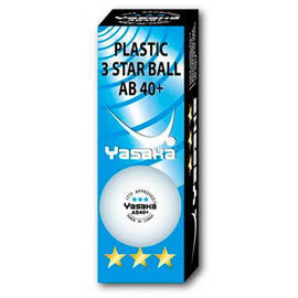 Мячи для настольного тенниса Yasaka AB 40+ 3***