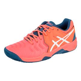 Детские теннисные кроссовки Asics Gel-Resolution 7 GS Clay Papaya/White