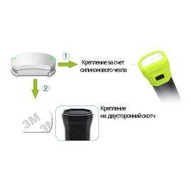 Бадминтонный компьютер-сенсор Perfeo Smart One Gray, закрепляется на ручку ракетки и измеряет силу и скорость ударов