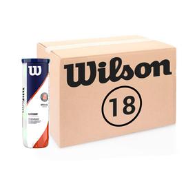 Теннисные мячи Wilson Roland Garros Clay Court 72 (18*4)  мяча. Официальные мячи открытого чемпионата Франции 2020