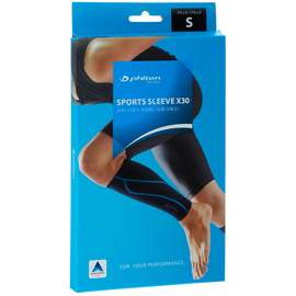 Силовые гетры Phiten Sports Sleeve X30 Black-blue