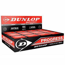 Мячи для сквоша Dunlop Progress 1 красная точка 12 штук