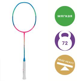 Бадминтонная ракетка Li-Ning WindStorm 72S Blue/Pink