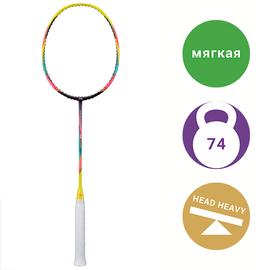 Бадминтонная ракетка Li-Ning WindStorm 74 Yellow/Pink/Purple