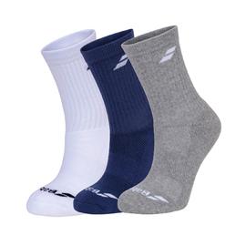 Носки Babolat Junior White Blue Grey 3 пары