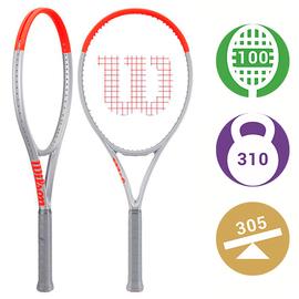 Теннисная ракетка Wilson Clash 100 Pro (Tour) Silver -  самая мощная ракетка серии Clash.  При тестировании показала очень высокую скорость подачи и мощнейший удар справа