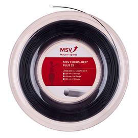Теннисная струна MSV Focus-Hex Plus 25 1.20  Black  200 метров