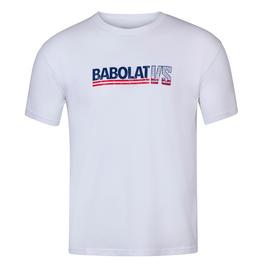 Футболка мужская Babolat Exercise Vintage White