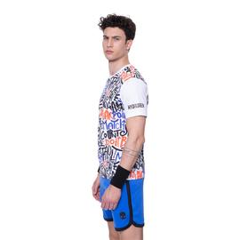 Мужская теннисная футболка Hydrogen GRAFFITI TECH