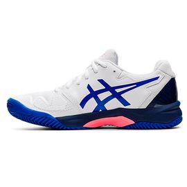 Детские теннисные кроссовки Asics Gel-Resolution 8 GS  Clay White/Lazuri Blue