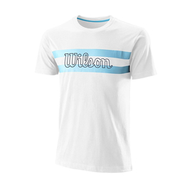 Футболка WIlson Chi Script White/Blue