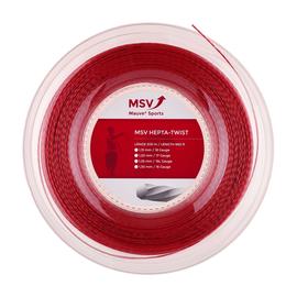 Теннисная струна MSV Hepta-Twist 1.30 200м Красная