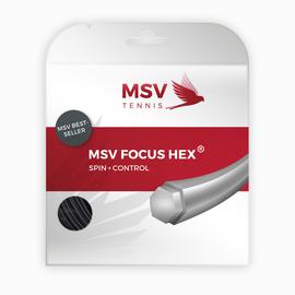 Теннисная струна MSV Focus-Hex 1.23 Black