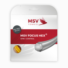 Теннисная струна MSV Focus-Hex 1.23 Neon Yellow 12 метров
