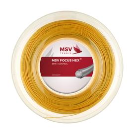 Теннисная струна MSV Focus-Hex Yellow 1.23 200 метров