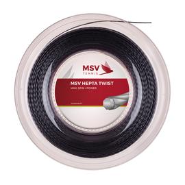 Теннисная струна MSV Hepta-Twist 1.30 200м Черная