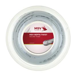Теннисная струна MSV Hepta-Twist 1.30 200м Белая