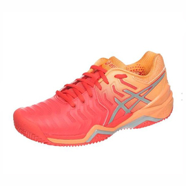 Теннисные кроссовки Asics Gel-Resolution 7 Clay Women Blood Orange/Peach
