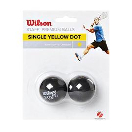 Мячи для сквоша Wilson Staff 2 Ball 1 жёлтая точка