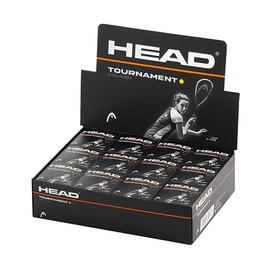 Мячи для сквоша Head Tournament 1 желтая точка 12 штук