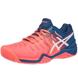 Теннисные кроссовки Asics Gel-Resolution 7 Papaya/White