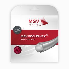 Теннисная струна MSV Focus-Hex 1.23 Red