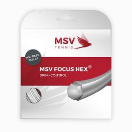 Теннисная струна MSV Focus-Hex 1.23 White 12 метров