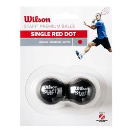 Мячи для сквоша Wilson Squash Ball 1 красная точка 2 штуки